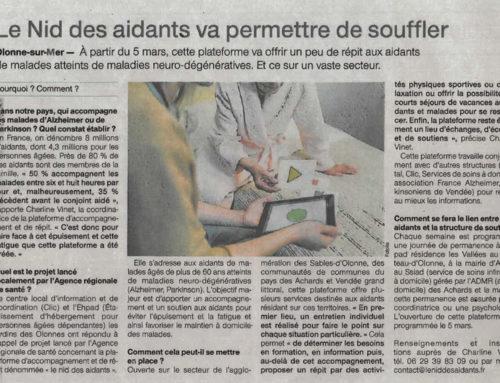 Article dans le journal Ouest France du 27 Février 2018